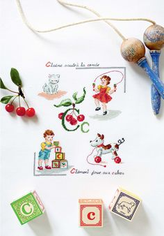 cross stitch style -