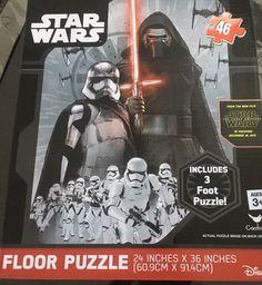 "Star War Floor Puzzle 24""x36"" Disney   eBay Floor Puzzle, Darth Vader, Star Wars, Flooring, Gift Ideas, Stars, Disney, Kids, Sterne"