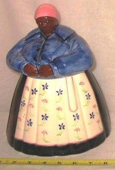 Rare Vintage 1978 Aunt Jemima Mammy Mamie Ceramic Cookie Jar by Mann 1970s Mod