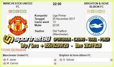 Prediksi Skor Bola Manchester United vs Brighton & Hove Albion 25 Nov 2017 Liga Inggris di Old Trafford (Manchester) pada hari Sabtu jam 22:00 dan live di bein Sport 1