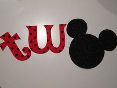 Baby's 2nd Birthday Mickey and/or Minnie Appliques Red