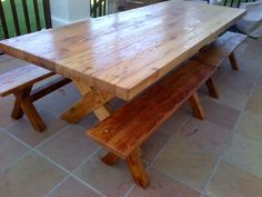 Seats Recycled and reclaimed wood with natural legs. Custom Made Furniture, Kids Furniture, Office Furniture, Furniture Design, Scaffolding Wood, French Oak, Rustic Table, Dining Room Table, Desks