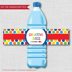 Printable Art Themed Party Water Bottle Labels by KatarinasPaperie