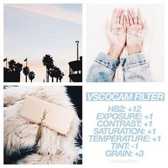 VSCO Cam Filter Settings for Instagram Photos | Filter HB2  Blueish Pink Effect