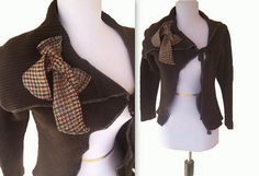Asymmetric Cardigan With Plaid Bow | Flickr : partage de photos !