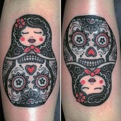 Day of the Dead nesting doll tattoo by Graceland