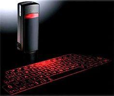 teclado virtual feito sob laser bluetooth.