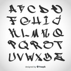 Texto Graffiti, Graffiti Text, Graffiti Words, Graffiti Writing, Graffiti Letters Styles, Graffiti Lettering Alphabet, Alfabeto Tattoo, Alfabeto Graffiti, Block Letter Fonts