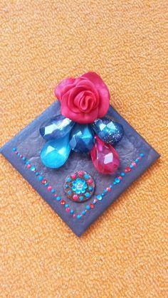 Tile decoration. Cold porcelain rose etc... :)