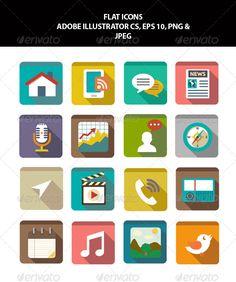 Flat Icons fully editable in Adobe Illustrator Cs | Buy and Download: http://graphicriver.net/item/flat-icons/6480636?WT.ac=category_thumb&WT.z_author=hajopak&ref=ksioks