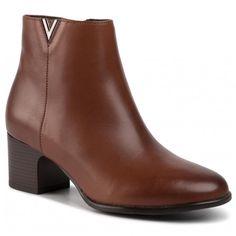 Botine WOJAS - 9561-52 Brąz - Botine - Cizme și altele - Damă   epantofi.ro Booty, Shoes, Fashion, Moda, Swag, Zapatos, Shoes Outlet, Fashion Styles, Shoe
