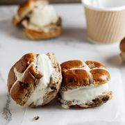 Hot Coss Bun Ice Cream Sandwiches > click the pic for the recipe.