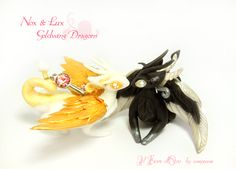 Nox e Lux, Silverwing and Goldwing Dragons by rosepeonie on deviantART