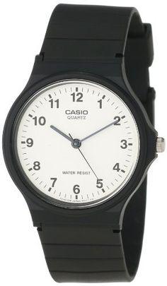 Nice Casio Quartz Resin Informal Watch, Coloration:Black (Mannequin: MQ24-7B)