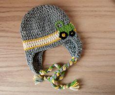 john deere baby, crochet tractor hat, baby boy hat, crochet hat caleb needs this!!!