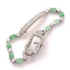 Cartier Art Deco Jewelry Watch 1928 - Love this! Cartier Jewelry, Antique Jewelry, Vintage Jewelry, Jewelry Watches, Bijoux Art Deco, Art Deco Jewelry, Fine Jewelry, Jewelry Box, Jewlery