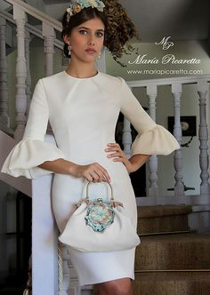 Sleeves Collection for fashion design Learner Elegant Dresses, Cute Dresses, Beautiful Dresses, Short Dresses, Beautiful Life, Vestidos Vintage, Vintage Dresses, Look Fashion, Womens Fashion