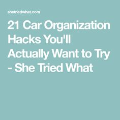 21 Car Organization Hacks You'll Actually Want to Try - She Tried What