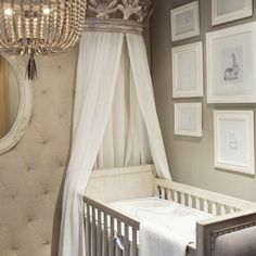 Past this stage but the colors and style would make any room dreamy.  {Restoration Hardware}
