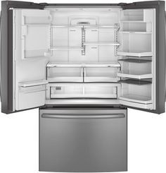 Be sure to get this one with Butter and Egg organizer.  GE Profile™ Series ENERGY STAR® 22.1 Cu. Ft. Counter-Depth French-Door Refrigerator PYE22PSHSS  Lowe's model number 634714. $3,099 - $2,789.
