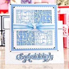 Congratulations card design from the Patchwork Perfections… Tonic Cards, Male Birthday, Birthday Cards For Women, Congratulations Card, Card Designs, Embossing Folder, Needle And Thread, Anniversary Cards, Paper Crafting