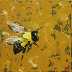 Print Bee 223 20x20 inch Print from oil painting by Roz by RozArt