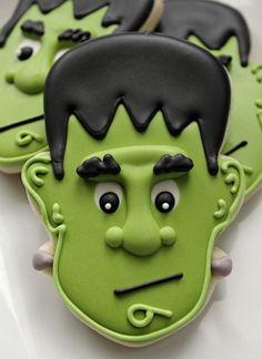 Frankenstein face monster candy for 2014 Halloween #2014 #Halloween