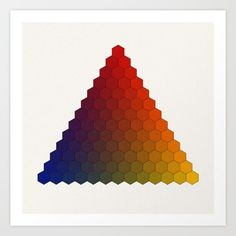 The Lichtenberg-Mayer Colour Triangle was published originally in the book Tobiae Mayeri: Opera inedita, Georg Christoph Lichtenberg. Göttingen, 1775, plate III. The original triangle was made by Georg Christoph Lichtenberg, based on the idea Tobias Mayer; however Lichtenberg's replication of the triangle has only seven chambers per side, when Mayer originally suggested 12 (+1): as Lichtenberg complained of the difficulties of creating a color reproduction according to Mayer's instructions.