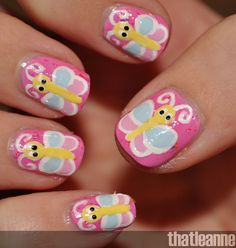 butterfly toe nail art designs | thatleanne butterfly nail art and the butterfly award nails designs ...