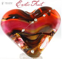 Exotic Fruit Heart (1) Handmade Lampwork Bead. Starting at $12 on Tophatter.com!