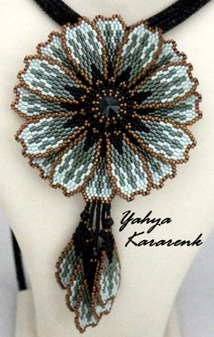 Bead Embroidery Jewelry, Beaded Embroidery, Beaded Jewelry, Beaded Necklace, Necklaces, Seed Bead Patterns, Beading Patterns, Brick Stitch Earrings, Beadwork Designs