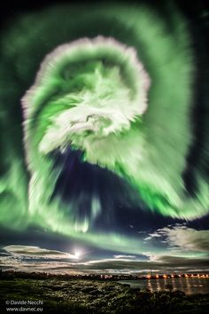 A Spiral Aurora over Iceland - Kingman Arts - Glass Art and More