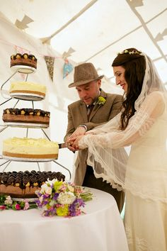 Edwardian wedding dress Cornwall tipi wedding