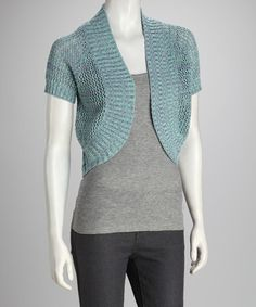 Take a look at this Sea Spray Knit Shrug by Love By Design on #zulily today!