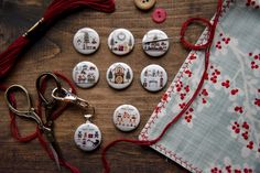 Little House Needleworks, Needle Minders, Washer Necklace, Dots, Stitch, Personalized Items, Instagram, Jewelry, Design