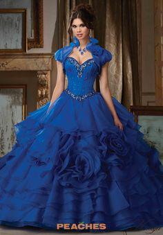 Vizcaya Quinceanera Satin Ball Gown 89105