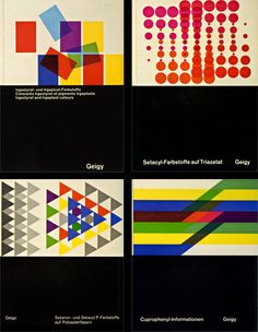 J.R. Geigy was a Swiss chemical company in the 50's and 60's. Their in-house designers played an integral role in the history of the Swiss International style.