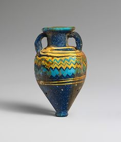 Glass amphoriskos (perfume bottle) Period: Classical Date: late 6th–5th century B.C. Culture: Greek, Eastern Mediterranean