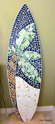 @Lexy Klinkhammer we should make this!!!!! surfboard (5 ft plywood base)... I just LOVE these!!!