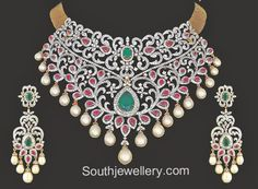 Exclusive Collection of Latest Indian Jewellery designs, Latest Gold Jewellery designs, Gold and Diamond Necklace Designs. Latest Gold Jewellery, Indian Jewellery Design, Indian Jewelry, Gold Jewelry, Jewelry Design, Diamond Jewellery, Resin Jewellery, Cartier Jewelry, Quartz Jewelry