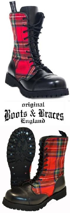 Ref. Boots 045 - Botas escocesas 10 agujeros maca Boots & Braces. Pedidos (Worldwide Orders): www.barrio-obrero.com