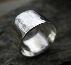 Hammered+Wide+Sterling+Silver+Band++hammered+to+a+by+bddesigns,+$72.00