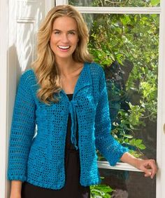 Year-Round Bobble Cardigan | Red Heart Yarns - Intermediate Crochet (Free Pattern)