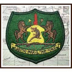 Original 1980's LPF - Lesotho Paramilitary Force Cloth Badge. Pre LDF - Lesotho Defence Force Era