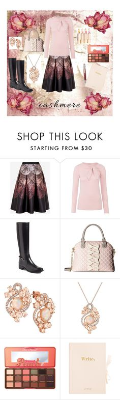 """""""Afternoon Writing"""" by girlie87 ❤ liked on Polyvore featuring Ted Baker, Marella, Aquatalia by Marvin K., Betsey Johnson, LE VIAN and Too Faced Cosmetics"""