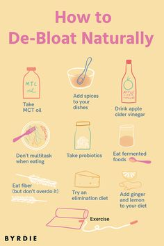 We talked to experts on natural ways to de-bloat almost instantly. How To Stop Bloating, Reduce Bloating, Anti Bloating, Stomach Bloating, De Bloating Foods, Abdominal Bloating, Getting Rid Of Bloating, Bloated Belly, Diet