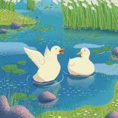 Duck Wallpaper, Scenery Wallpaper, Duck Illustration, Duck Drawing, Cute Ducklings, Duck Pictures, Very Nice Images, Duck Cartoon, Duck Art