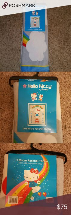 Hello kitty robot throw blanket Super soft. Still in original retail package. Great gift. 50x60 inches design on second photo. Rare and very hard to find Sanrio Other