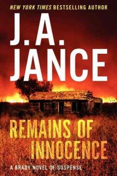 Remains of innocence by J.A. Jance.  Click the cover image to check out or request the suspense and thrillers kindle.