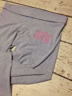 Monogrammed Athletic Yoga Pants for Women or by SouthernHandsLLC, $30.00